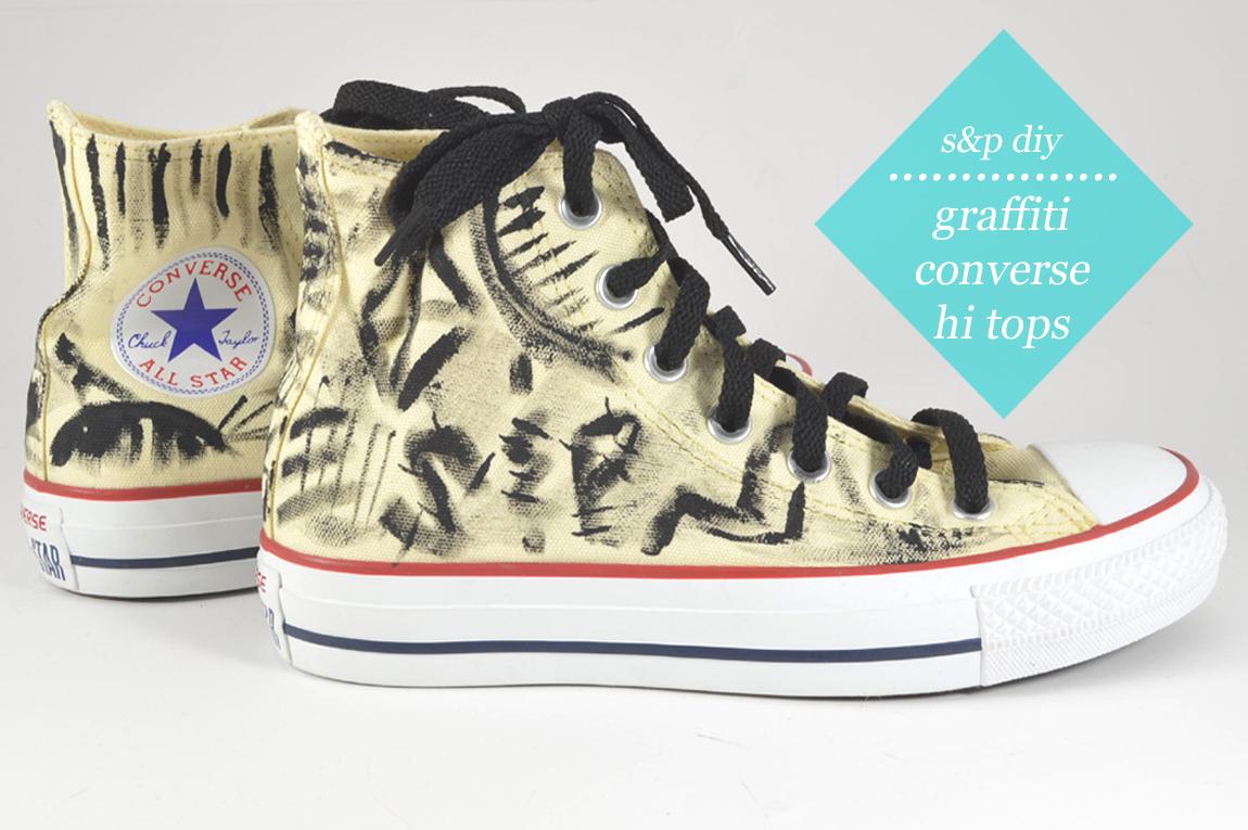 diy: Graffiti Converse Hi Tops - Wild Amor