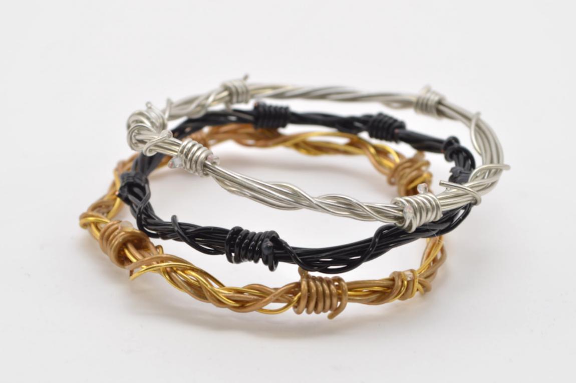 Diy Barbed Wire Bracelet Wild Amor
