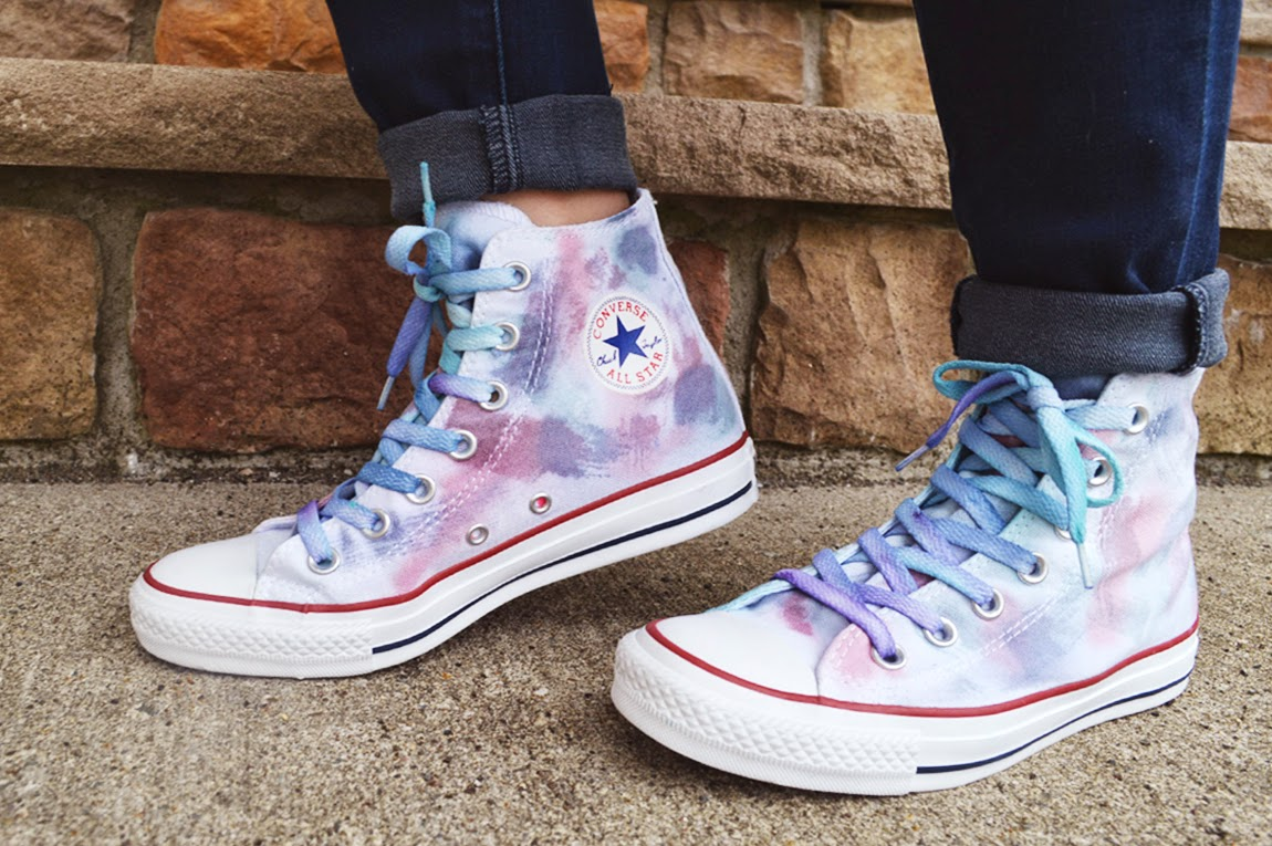 DIY: Watercolor Hi Tops