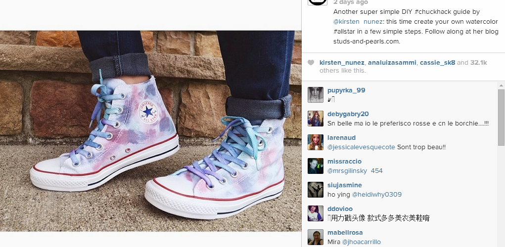 5e0eda64e53fd feature: Watercolor Hi Tops on Converse - Wild Amor