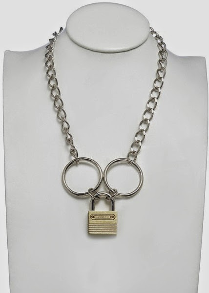 product padlock eddie in metallic borgo necklace lyst jewelry