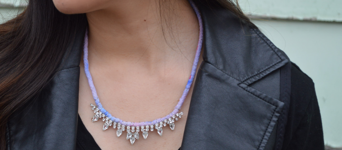 DIY: Rhinestone Ombre Rope Necklace