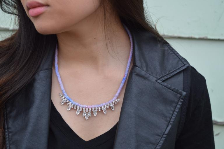DIY: Rhinestone Ombre Rope Necklace