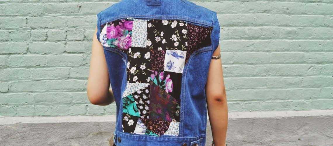 DIY: Floral Patchwork Denim Vest