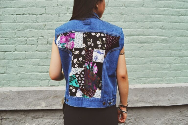 DIY: Floral Patchwork Denim Vest