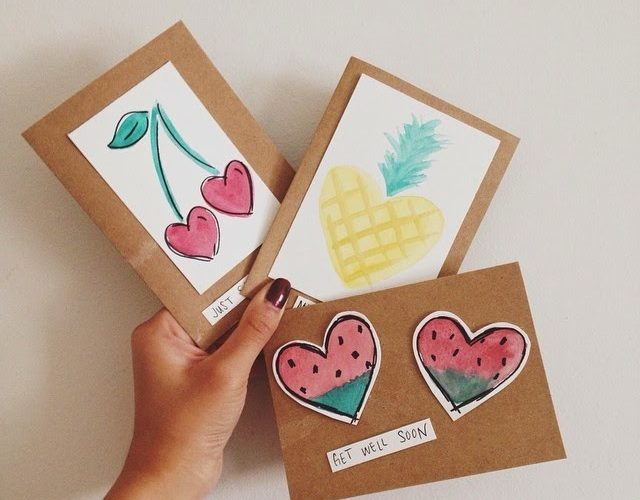 Crafty with a cause fruit themed greeting cards for the elderly the organization includes handmade greeting card donations with meal deliveries and also keeps the m4hsunfo