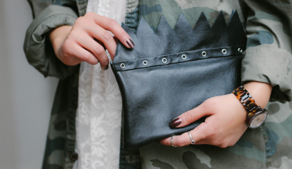 DIY: Jagged Edge Leather Clutch