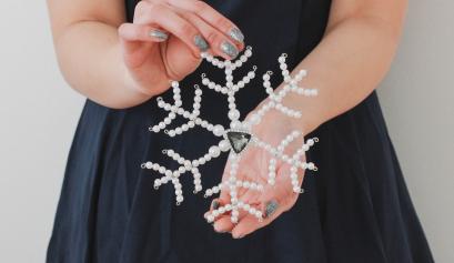 Pearl Snowflake DIY