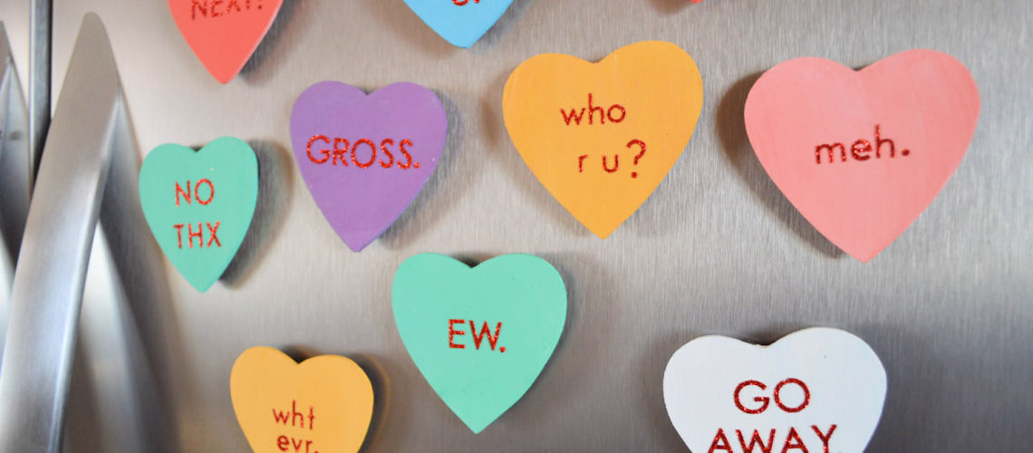Diy Anti Valentine S Day Candy Heart Magnets Wild Amor