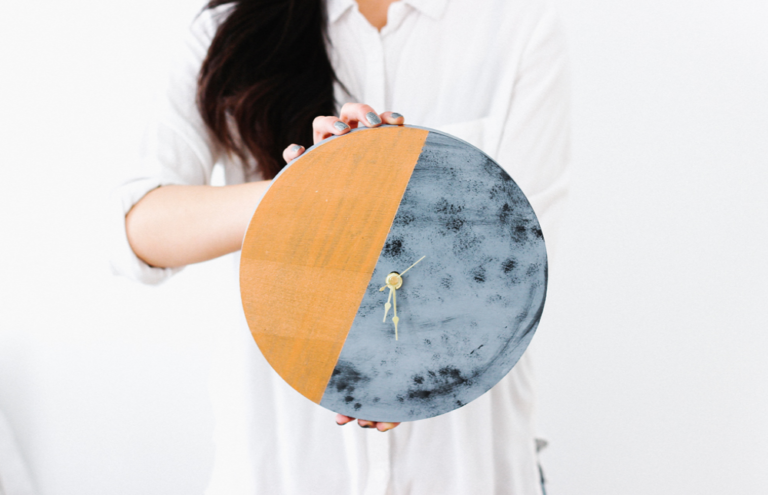 DIY: Gilded Moon Clock