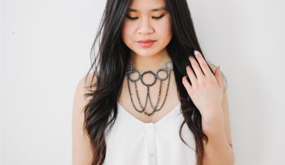 Thread Wrapped Bib Necklace DIY