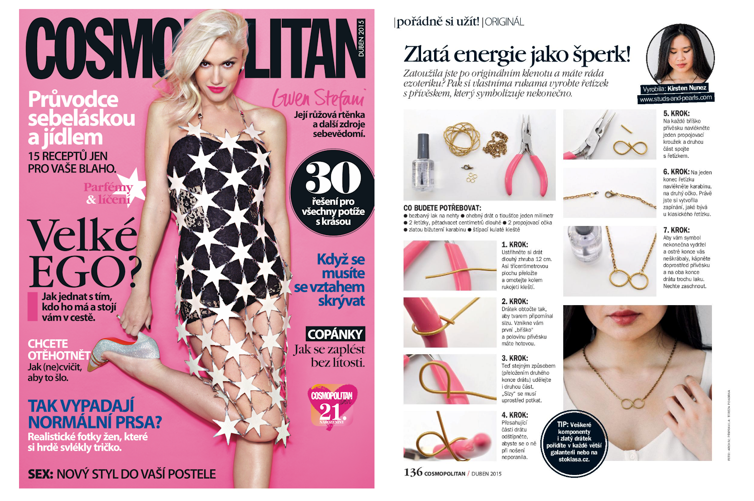 Kirsten Nunez in Cosmopolitan Czech Republic (April 2015)