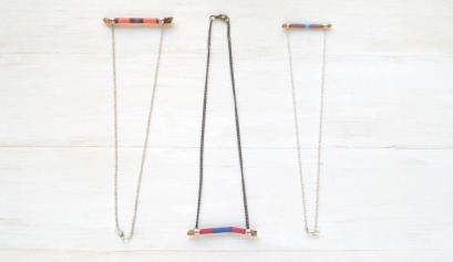 Painted Twig Necklace
