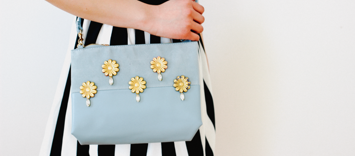 DIY Embellished Barrette Bag