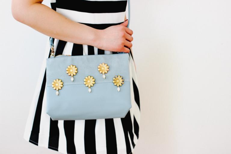 DIY Embellished Barrette Bag