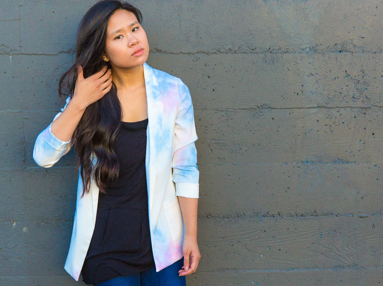 how to make a diy watercolor blazer