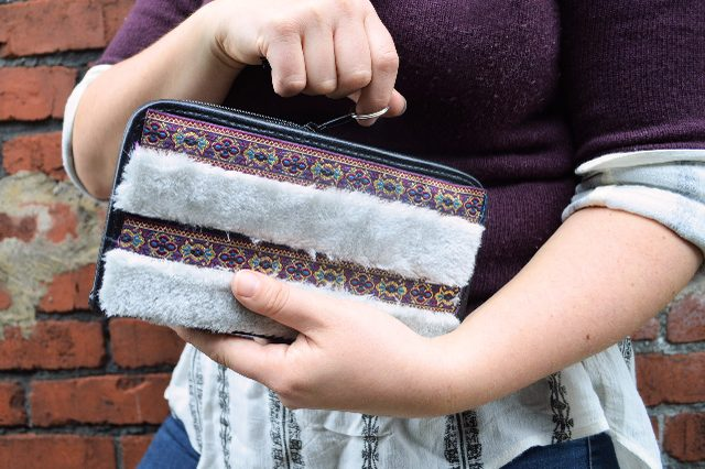 eHow DIY: Mixed Media Clutch