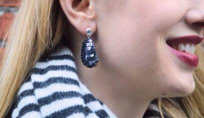 DIY Sequin Drop Earrings