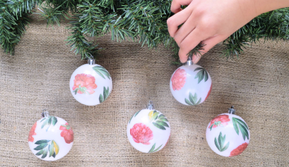 Design*Sponge Decoupaged Ornaments