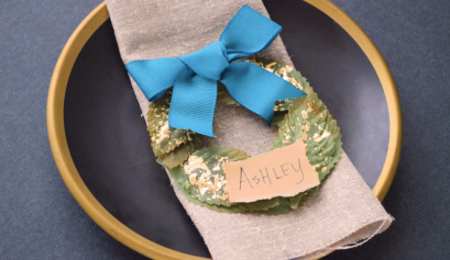 DIY Mini Wreath Place Cards
