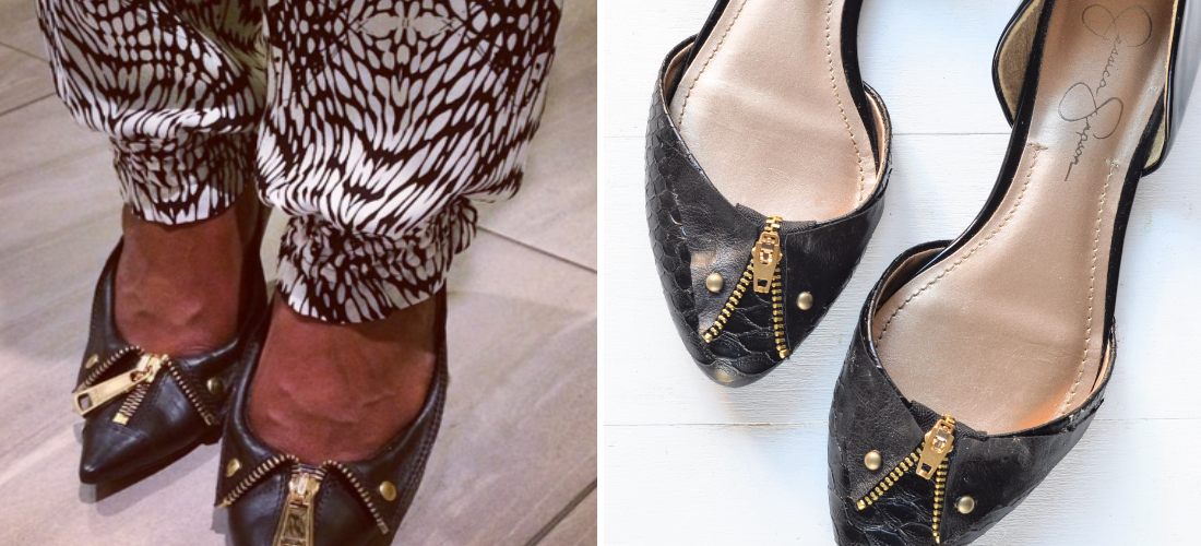 Brit + Co: Moschino-Inspired DIY Pumps