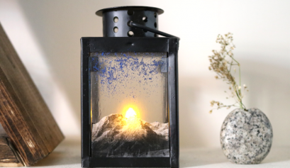 Darice: Mountain Sunrise Lantern