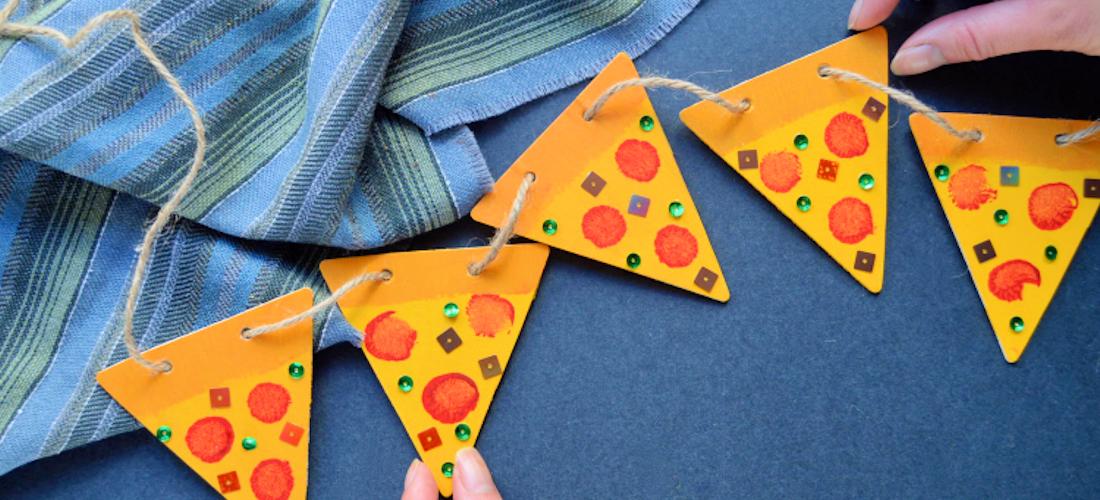 Darice DIY: Pizza Bunting Garland