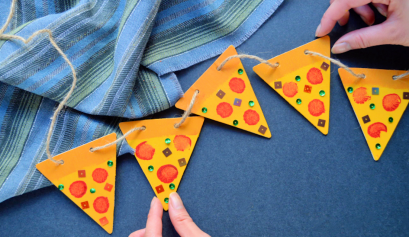 Darice DIY: Pizza Bunting Garland