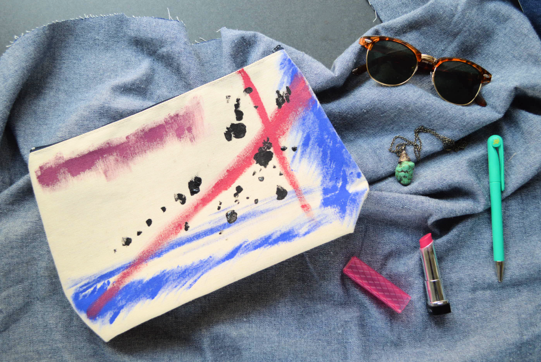 eHow: Artsy Canvas Pouch