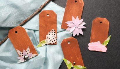 Darice DIY: Floral Washi Wood Tags