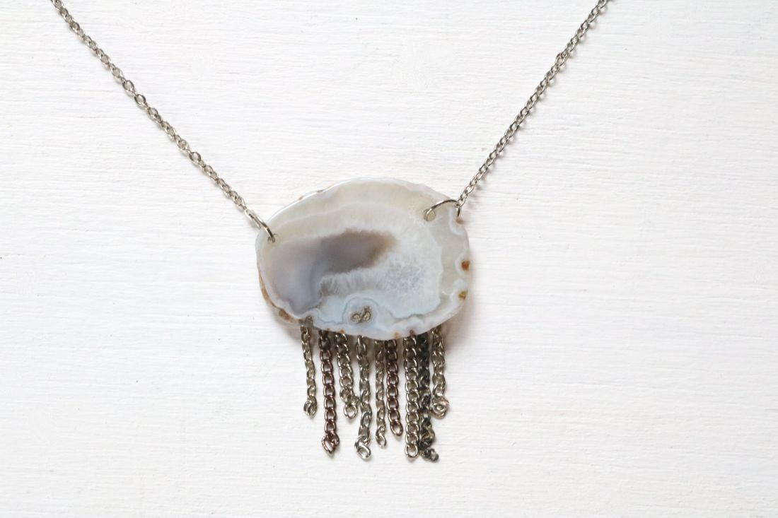 DIY: Stone Fringe Necklace