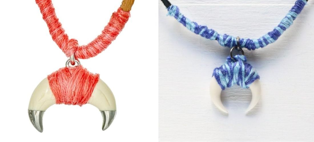 eHow: Thread-Wrapped Horn Necklace