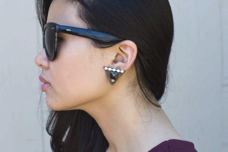 DIY: Studded Wood Earrings