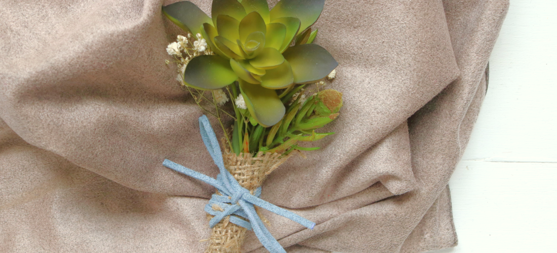 Weddingbee DIY: Succulent Boutonniere