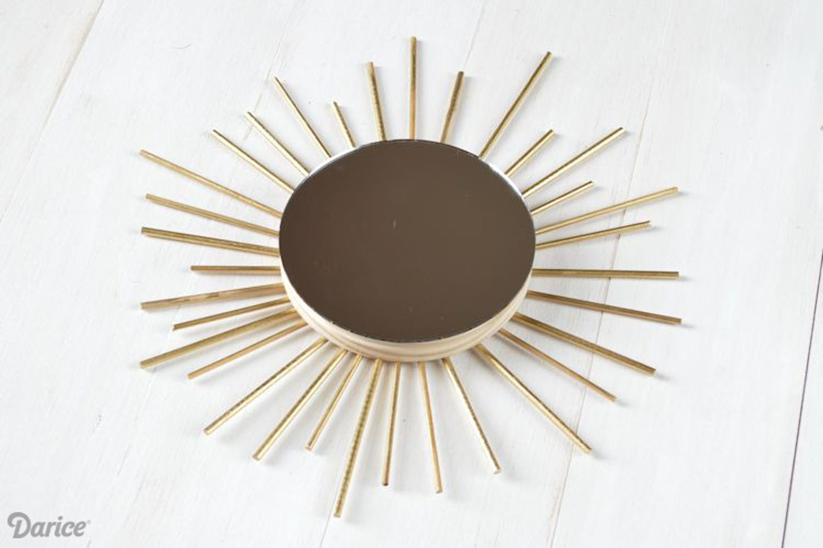 DIY: Gold Sunburst Mirror