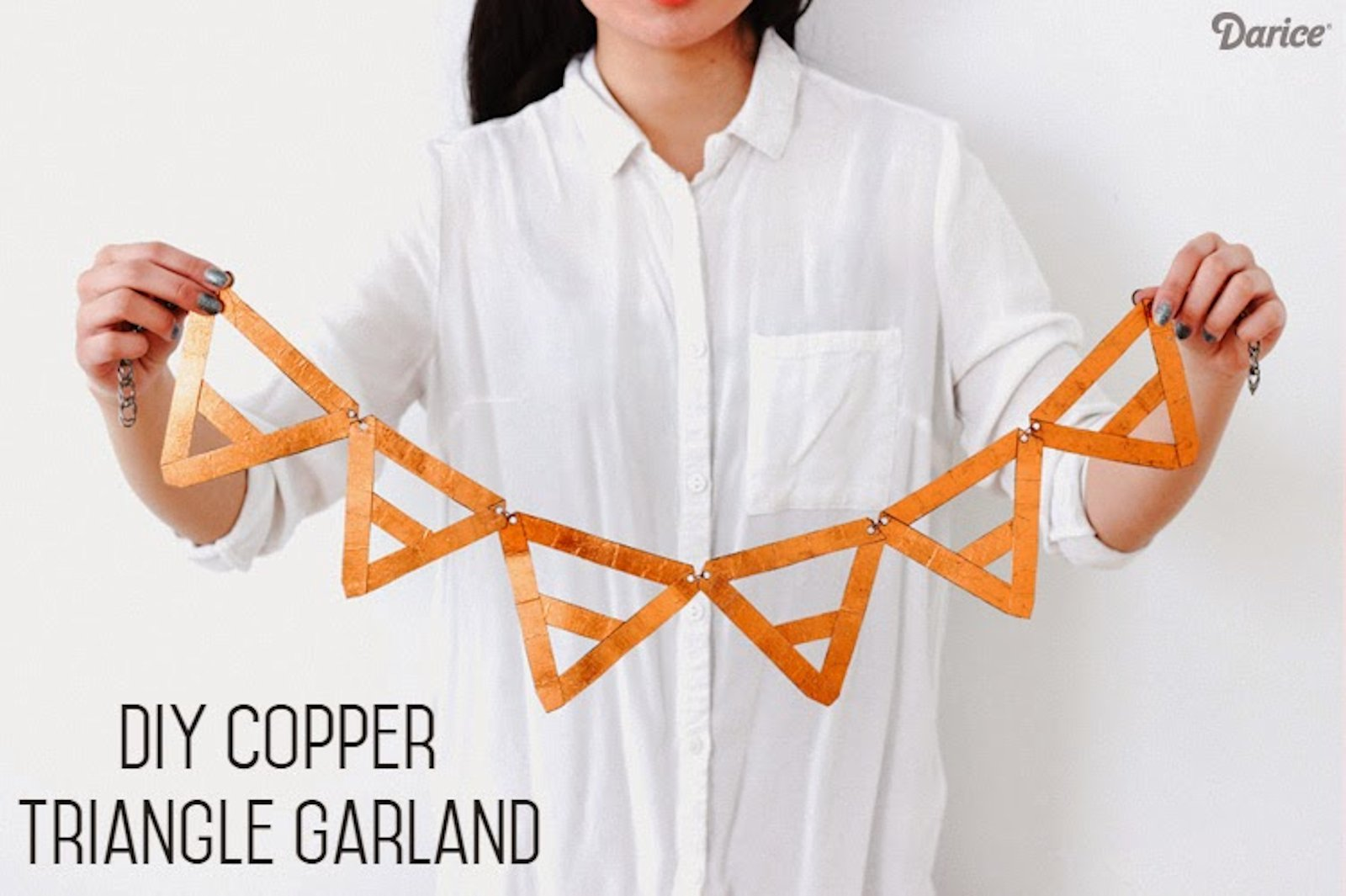 DIY: Copper Triangle Garland