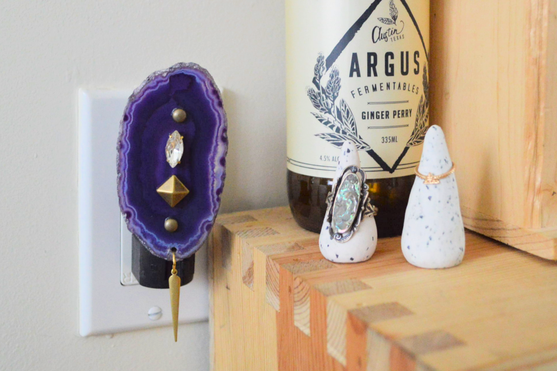 DIY: Agate Candle Holder