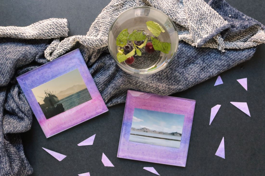 DIY: Glass Photo Coasters