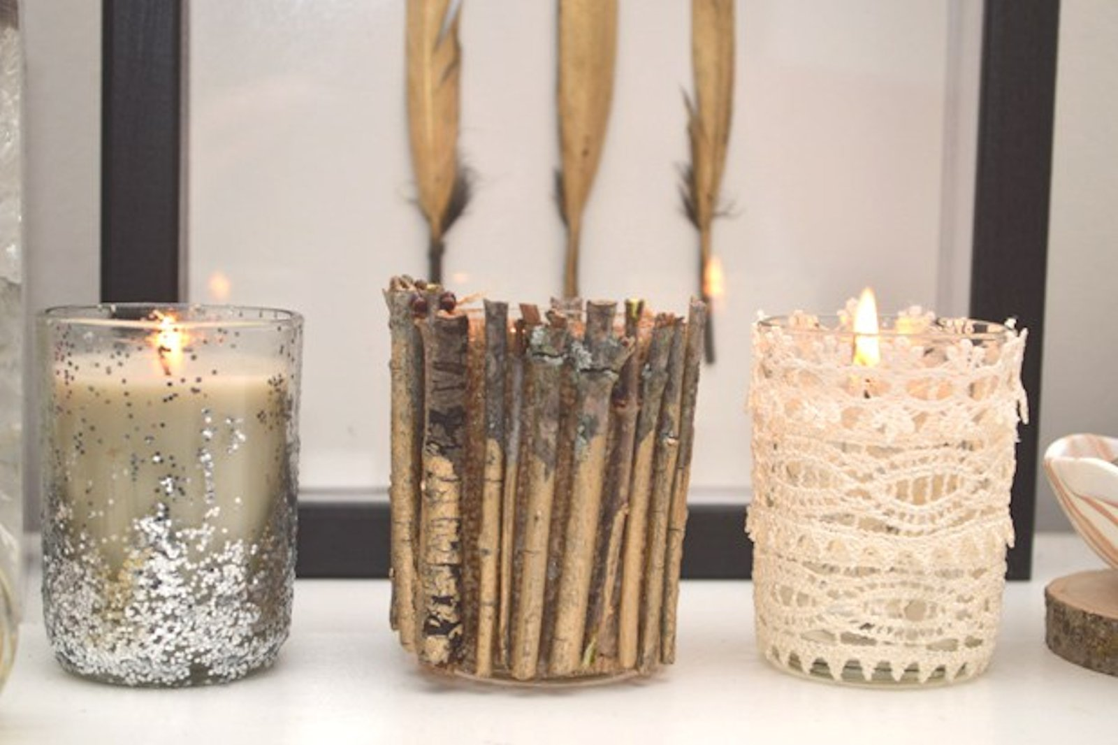 DIY: Embellished Candle Holders