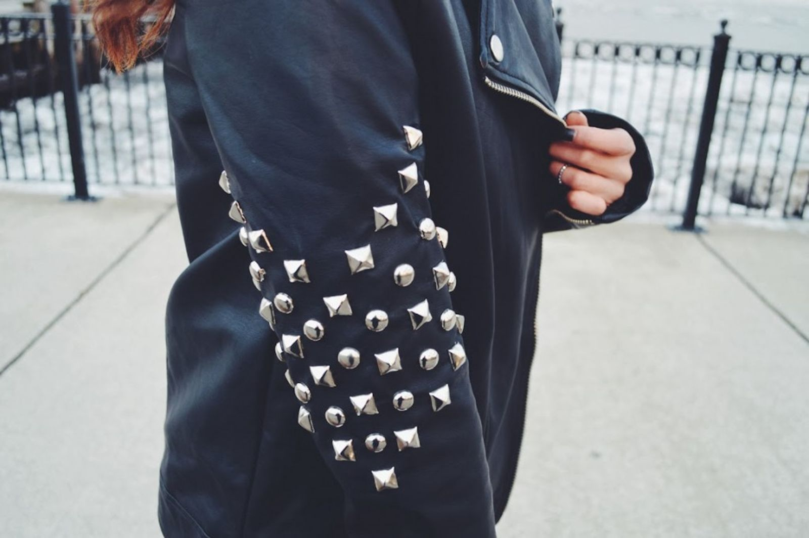 DIY: Chevron Studded Jacket