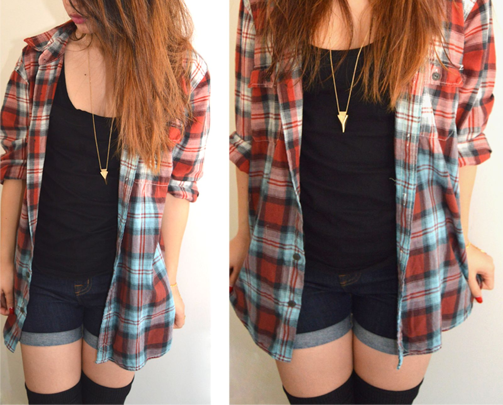 DIY: Dip-Dyed Flannel Shirt