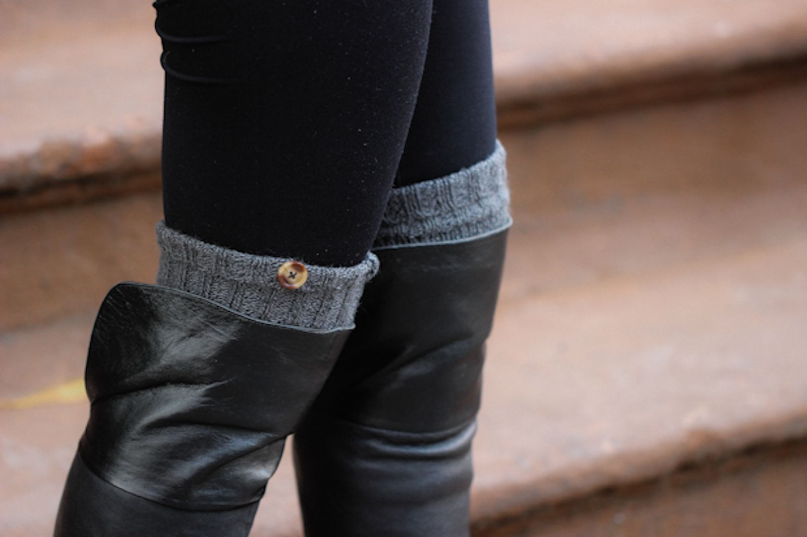 DIY: Faux Button Leg Warmers