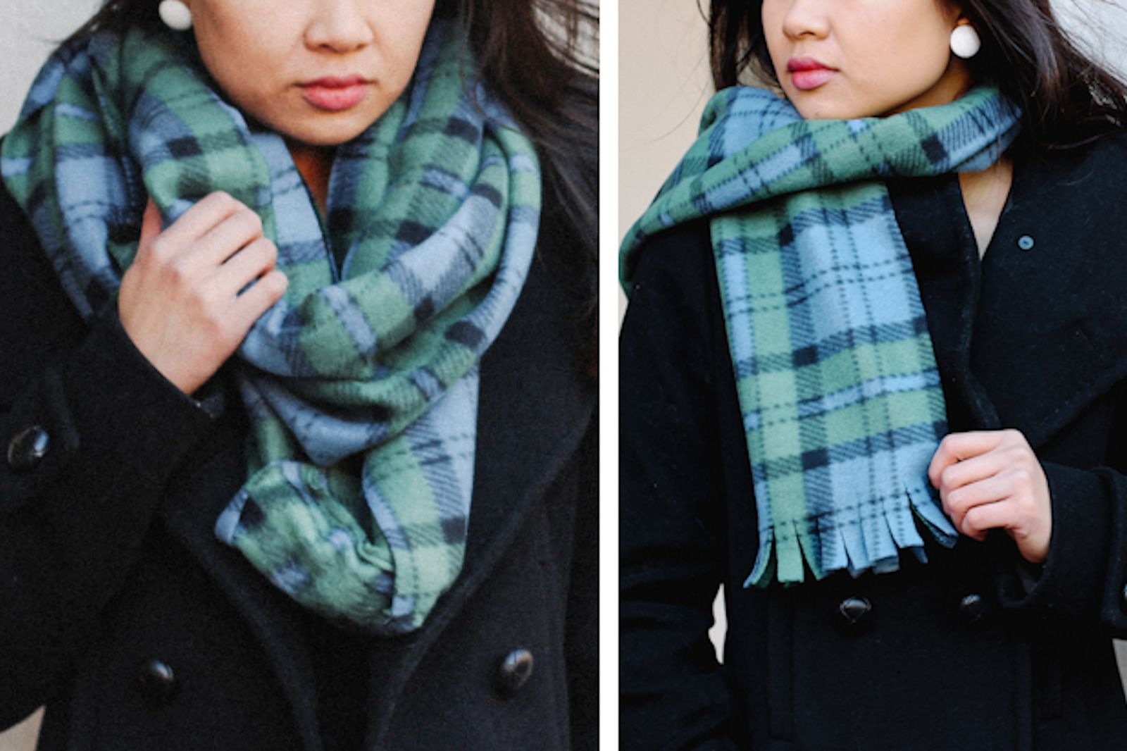 DIY: Fleece Scarves