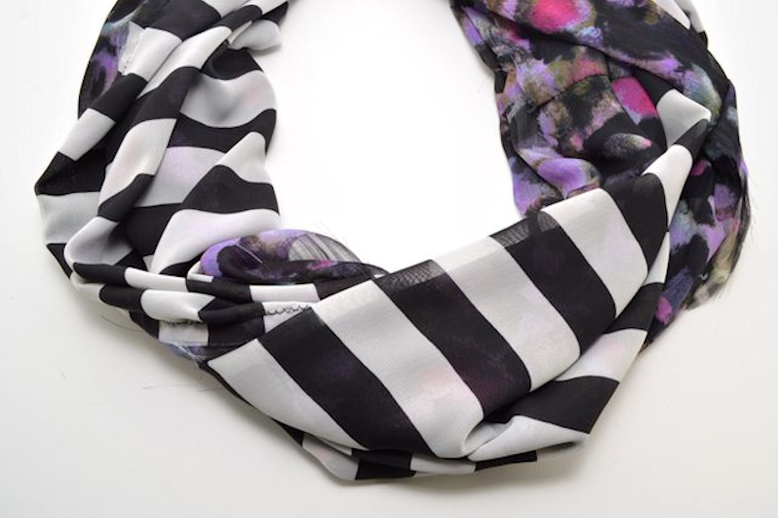 DIY: Mixed Print Infinity Scarf