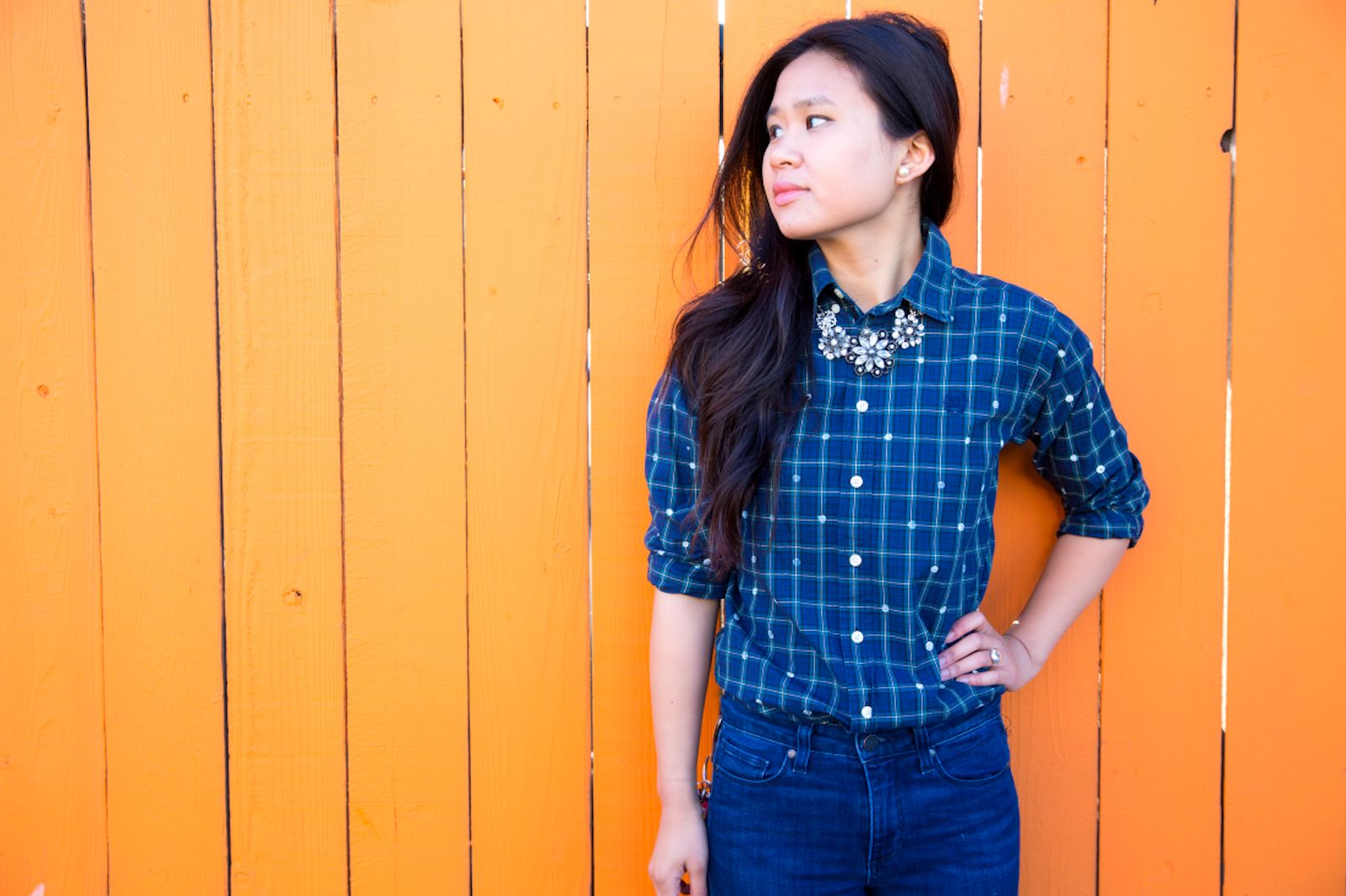 DIY: Polka Dot Plaid Shirt