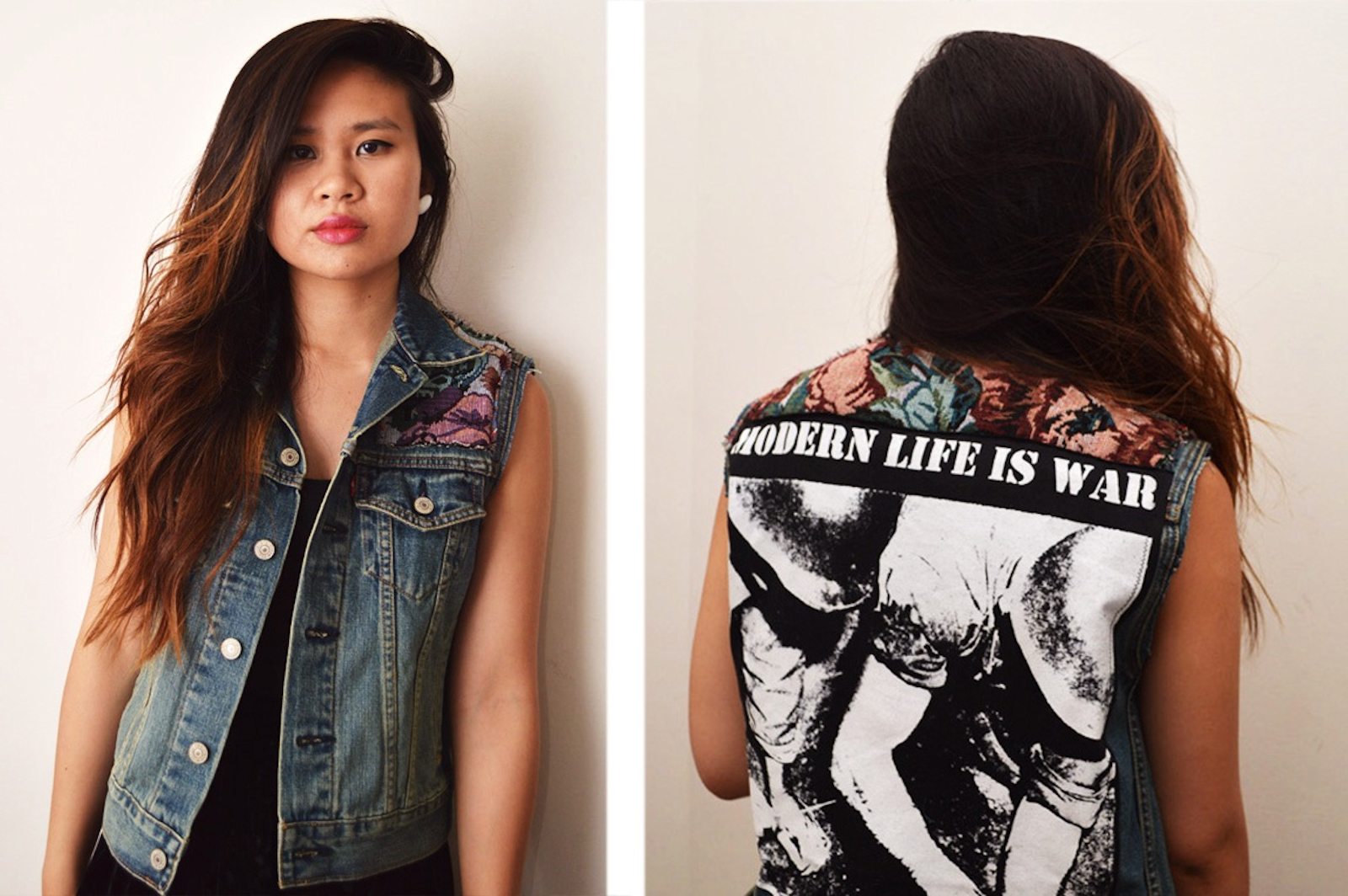 DIY: Shoulder Panel Denim Vest