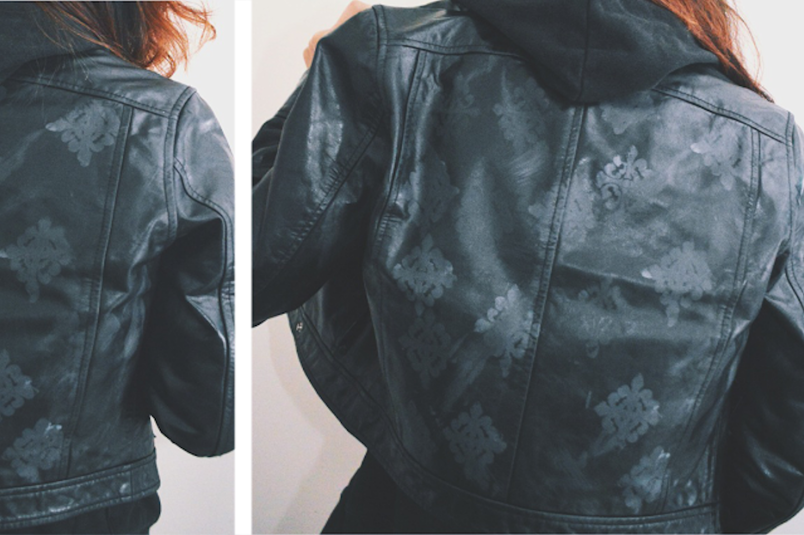 DIY: Stenciled Leather Jacket