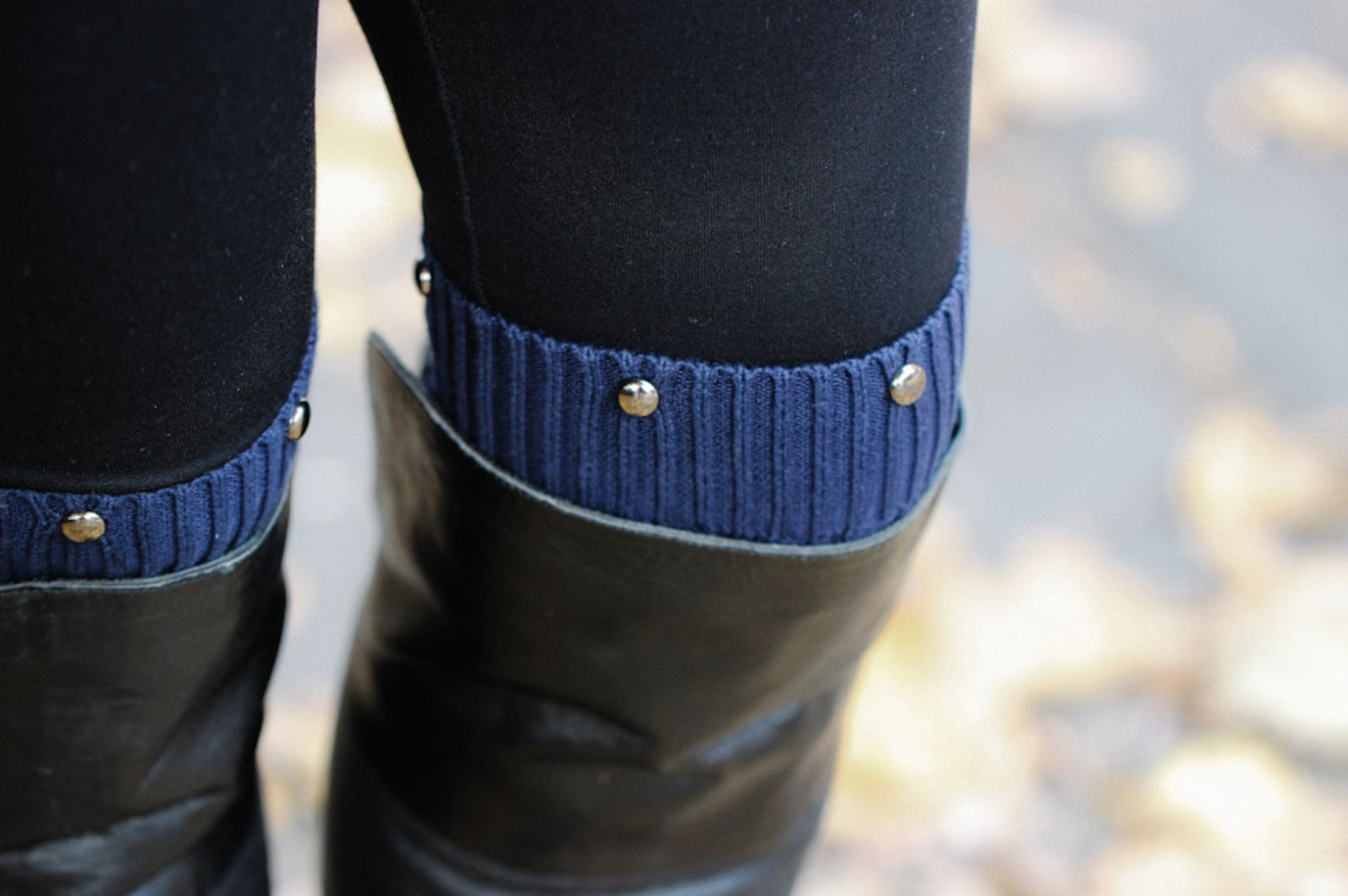 DIY: Studded Sweater Leg Warmers