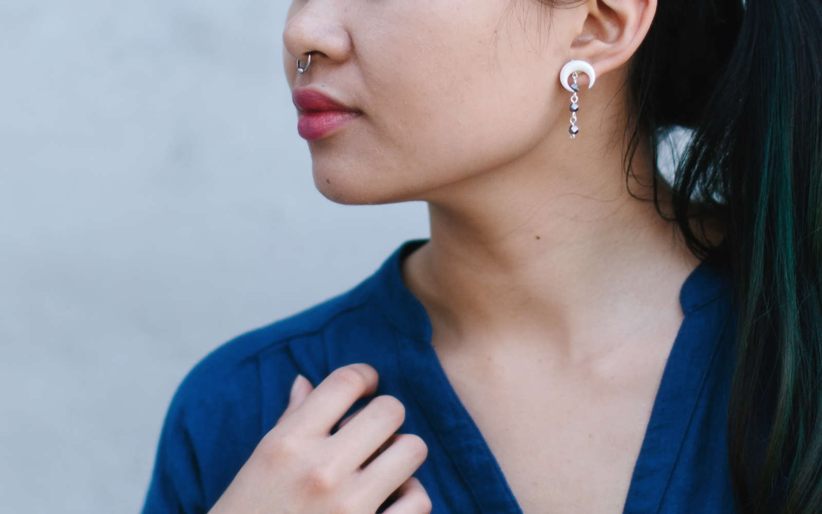 Diy Bone Crescent Earrings Wild Amor