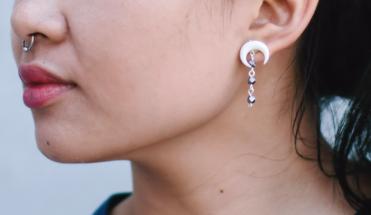 DIY: Bone Crescent Earrings